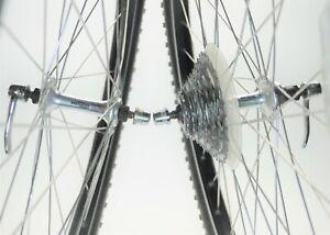 "VINTAGE SHIMANO DEORE DX ARAYA RX-7 26"" X 1.50 BICYCLE 7 SPEED WHEELS 135 MM"
