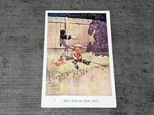 """1913 Comic Postcard """"The Arm of The Law"""" Boy Poaching Lawson Wood"""
