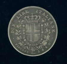 1860 Italy Silver 2 Lire                                                       g