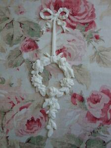 NEW! FLEXIBLE Bow Rose Wreath Drop/Center Furniture Applique Architectural