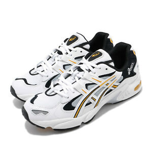 Asics Gel-Kayano 5 OG White Black Yellow Men Classic Running Shoes 1021A163-100