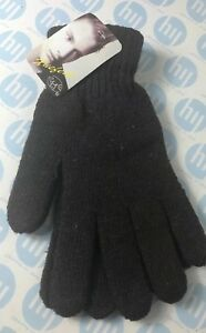 Brown Thermal Warm Stretch Wool Knitted Riding Driving Gloves UK Seller One Size
