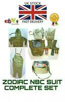NEW ZODIAK / ZODIAC NBC SUIT GERMAN ARMY SIZE XL, FOR GAS MASK CBRN RUBBER NATO