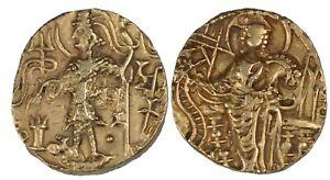 Kushan Empire, Shaka, Dinar, 300-330 AD, AU, Gold Coin, 7.59 gms