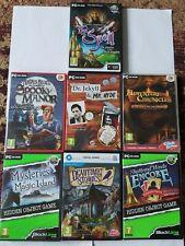7 Hidden Object Games Lot PC - The Spell, Encore, Deadtime Stories & Mortimer Be