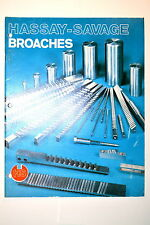 HASSEY-SAVAGE BROACHES CATALOG #RR1002 guide keyway bushing hexagon square data