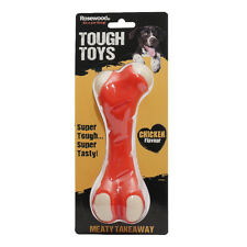 Rosewood Tough Toys Meaty Chicken Takeaway Bone Small Dog Toy | Nylon Chew Pet