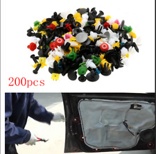 200Pcs Mixed Plastic Auto Fastener Rivet Clips For Car Bumper Door Panel Fender