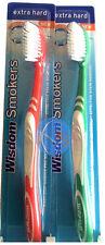 2 x Wisdom - Addis Smokers Brosse à dents extra dur , meilleur valeur à