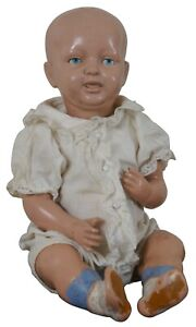 """Antique 1910s Parsons Jackson Biskoline Baby Doll Jointed Celluloid 14"""""""