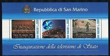 SAN MARINO 1993 TELEVISIONE/ATHLETICS/SPACE/MOON/FLAG/VIEW/HOLOGRAM s.sheet