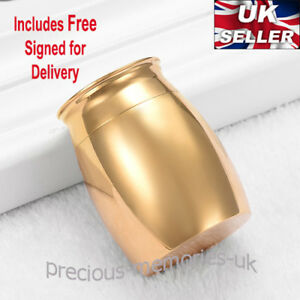 Gold Mini Cremation Ashes Urn - Funeral Memorial Keepsake - with Gift Box