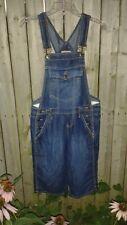 VTG 90s No Boundaries Denim Grunge Revival BIB OVERALLS Romper Jeans Shorts SZ 7