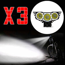 AGM X3 Bicycle Bike Light 3 CREE T6 LED 1050 LM Headlight Flashlight in UK