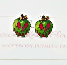 Poison Apple Studs, Snow White Earrings, Evil Queen Earrings, Disney Villains