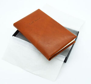Real Leather Pocket Golf Score Book - Tan Hide - IDEAL XMAS PRESENT
