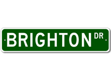 BRIGHTON Street Sign - Personalized Last Name Sign
