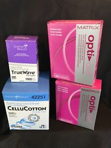 2 Matrix OptiCurl Perms (for any hair type) + cotton & end papers