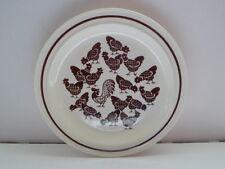 "Homer Laughlin Chickens pattern 10 1/4"" Plate"