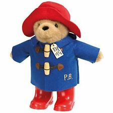 "Paddington Bear Plush Toy With Wellington BOOTS 8.5"" Licensed Rainbow Designs A3"