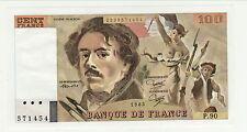 QUASI NEUF 100 FRANCS DELACROIX 1985 P90