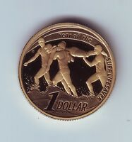 2007 Australia $1 Proof Coin Year of Surf Lifesaver out of a Set Water Ocean