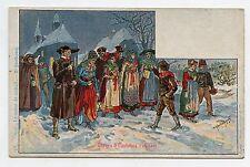 P. KAUFFMAN.Usages & Costumes d'Alsace.22. NOËL . La messe de minuit