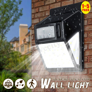 35LED Solar Power Light PIR Motion Sensor Waterproof Garden Outdoor Wall  @