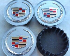 4 pcs, Cadillac, Wheel Emblem Center, Hub Cap, 66MM, Sliver Color Crest.