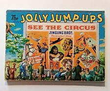 Pop-up JOLLY JUMP-UPS SEE THE CIRCUS Geraldine Clyne 1944 HC