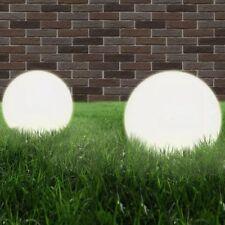 Lampade da giardino a sfera Set 2 Pezzi E27 Diametro 40 cm in PMMA