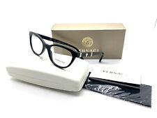 VERSACE MOD 3219-Q GB1 Eyeglasses Optical Frames Glasses Shiny Black ~ 52mm