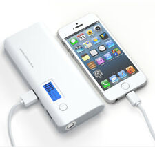50000mah LCD Power Bank 2usb LED Universal Battery Charger for iPhone Samsung LG Grey