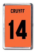 Johan Cruyff Netherlands Number 14 Football Shirt Fridge Magnet Design