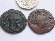 Lot of two Roman Provincial Bronze Coins     g /  m        31