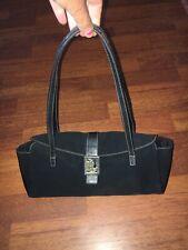 Ralph Lauren Black Shoulder Bag Fabric & Leather