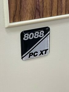 Custom 8088 80286 PC XT Turbo IBM Clone 5150 Computer Case Badge DOMED Sticker
