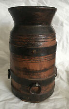 More details for very rare antique wooden water / milk jar/vase/urn 1800s