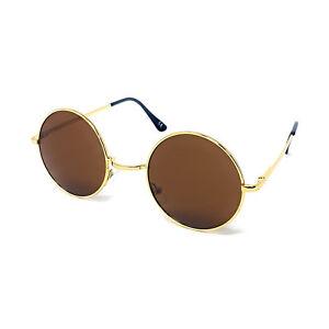 Round Lens Sunglasses Mens Womens Ladies John Lennon Small Circle Ozzy Hippie UV