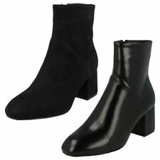 Block Zip Casual Ankle Women's Boots