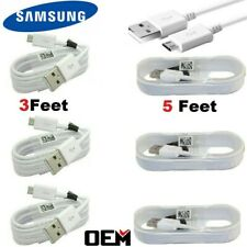 For Samsung Galaxy S7 S6 Edge Note5 Note4 OEM Fast Charger Micro USB Cable Cord