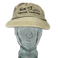 Cotton Deluxe Hats Grand Canyon Baseball Cap Beige Embroidered OSFM Strap Back