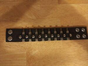 Men's Punk Wide Rivet Bullet Leather Strap Bangle Bracelet Wristband Adjustable