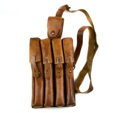 Original Yugoslavia Serbian army pouch M65 leather ammo 4 cell magazine case mag