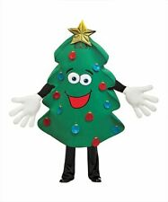 Rasta Imposta Adult Waver Mascot Cartoon Costume - Xmas Tree w/ Yellow Hands