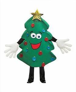 Rasta Imposta Adult Waver Mascot Cartoon Costume - Xmas Tree w/ Yellow Hands