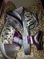 Roberto cavalli baby sandels. Purple and leopard design with sequences. Size uk5