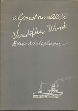 ALFRED WALLIS CHRISTOPHER WOOD BEN NICHOLSON 1987 ART EXHIBITION CATALOGUE