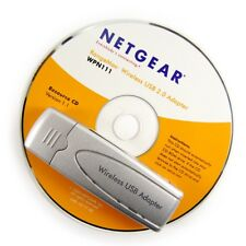 Netgear Rangemax Wireless USB Adapter Dongle with CD WPN111