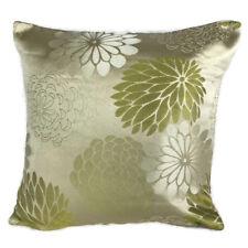 "Big Flower Golden Beige Green White Cushion Covers 18x18"" Square Decor UK Home"